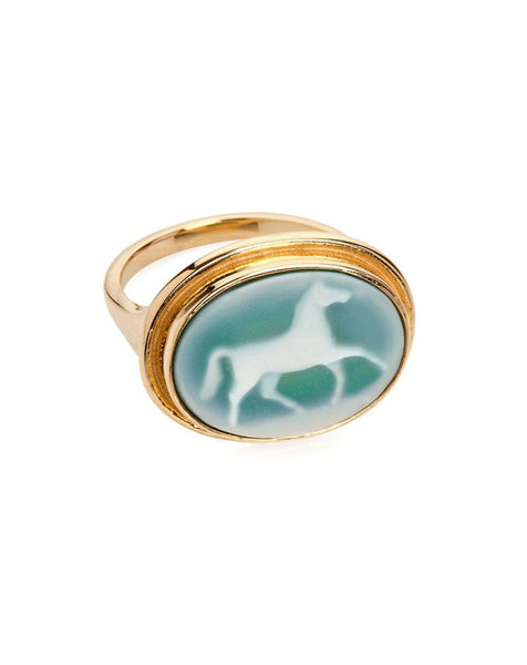 Horse Cameo Ring