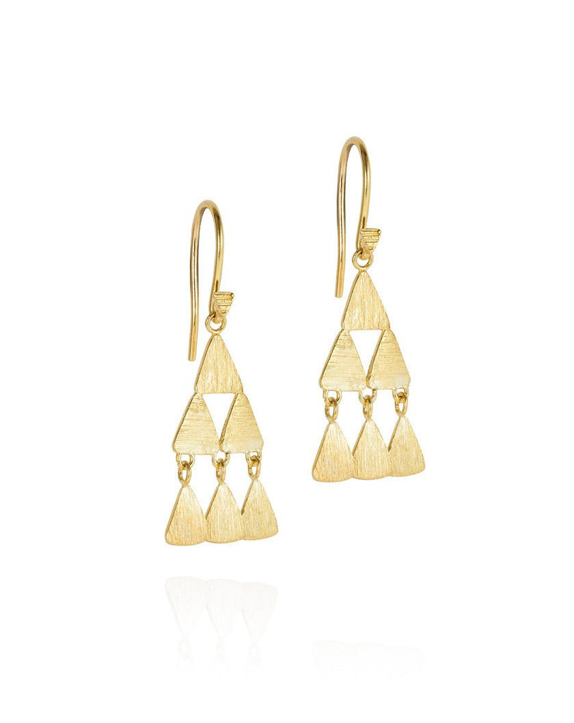 The Shimmy Pyramid Holiday Earrings