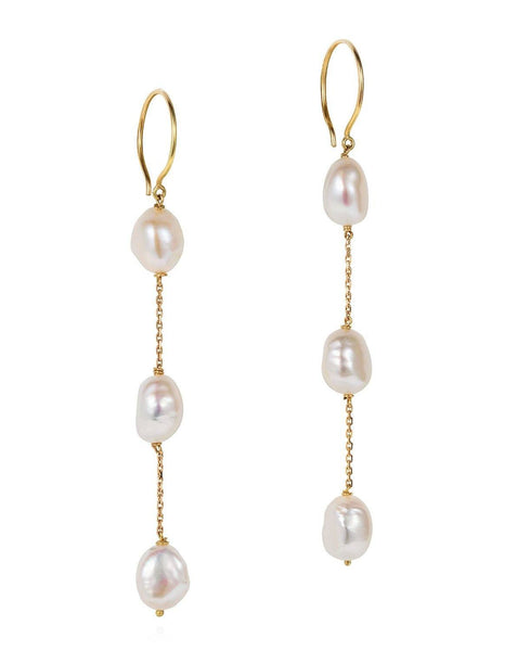 The Seed Pearl Zoya Drop Earrings