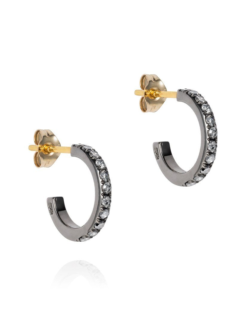 Midnight Small Hoop Earrings