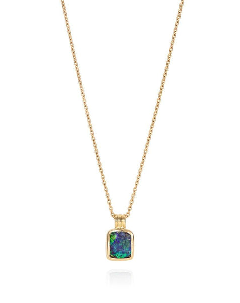 Boulder Opal Triple Loop Necklace