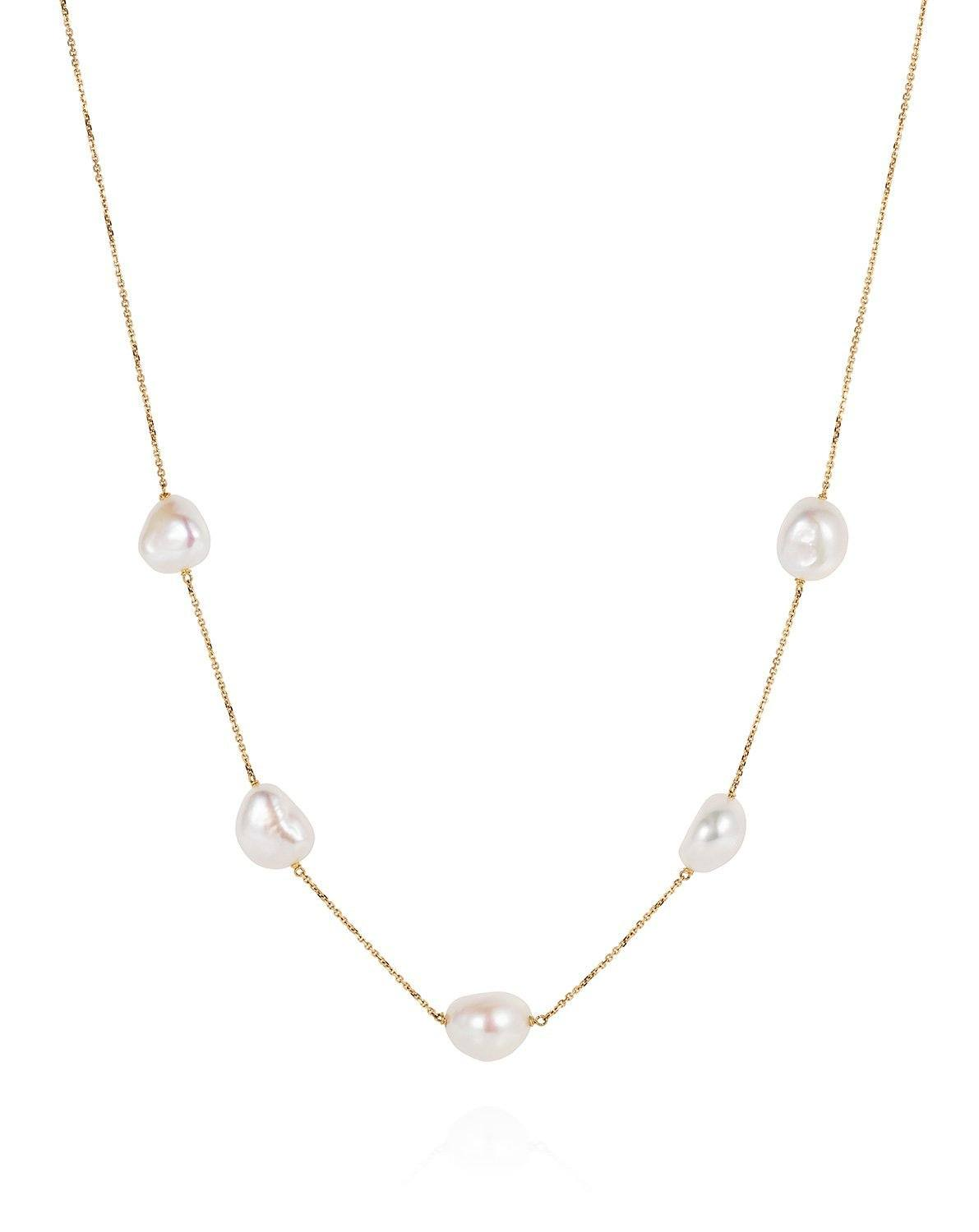 Baroque Sleeper Pearl Necklace