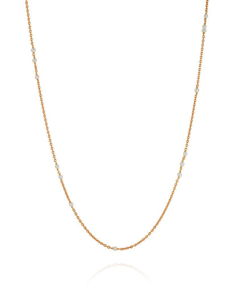 Tiny Seed Sleeper Pearl Necklace