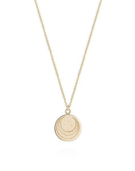 Mini Zodiac Luna Coin Necklace