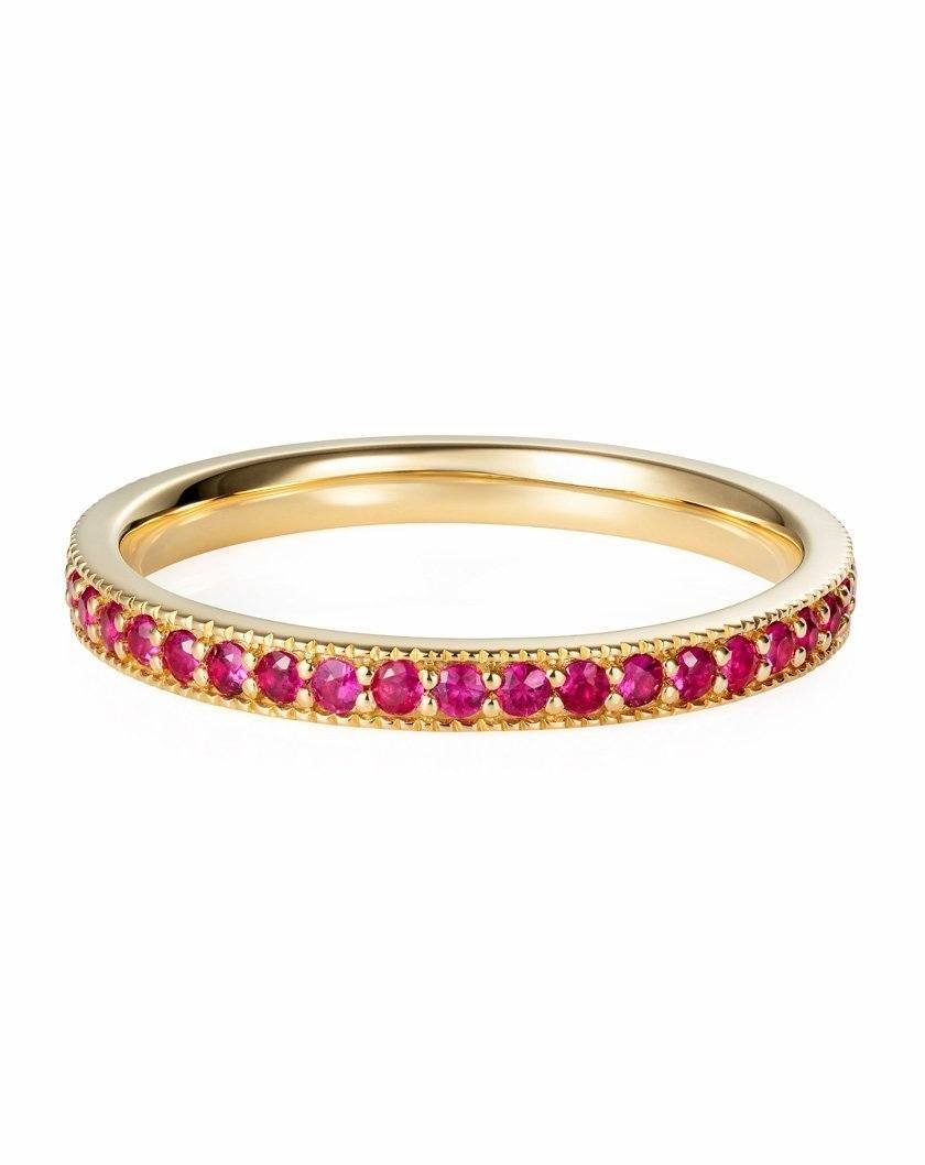 Ruby Eternity Band in 18ct Yellow Gold