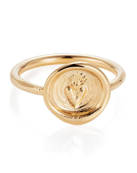 Hearts on Fire Ring - 9ct Yellow Gold