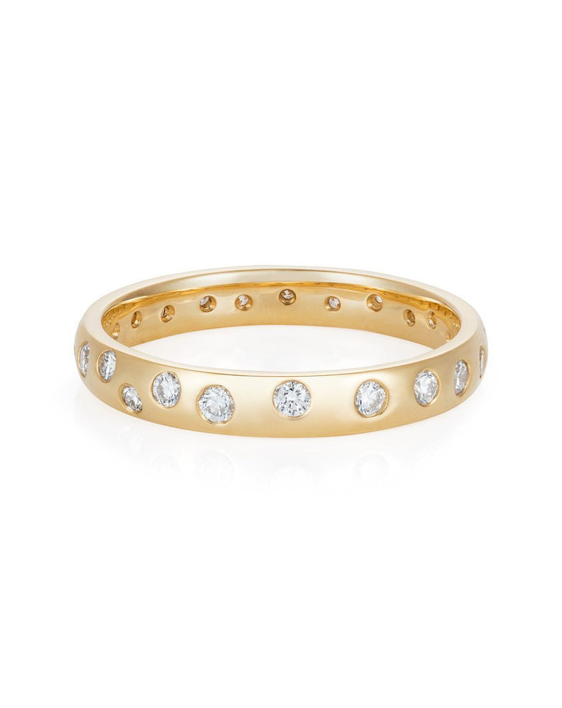 Premium 18ct Yellow Gold Court Shaped Band Ring