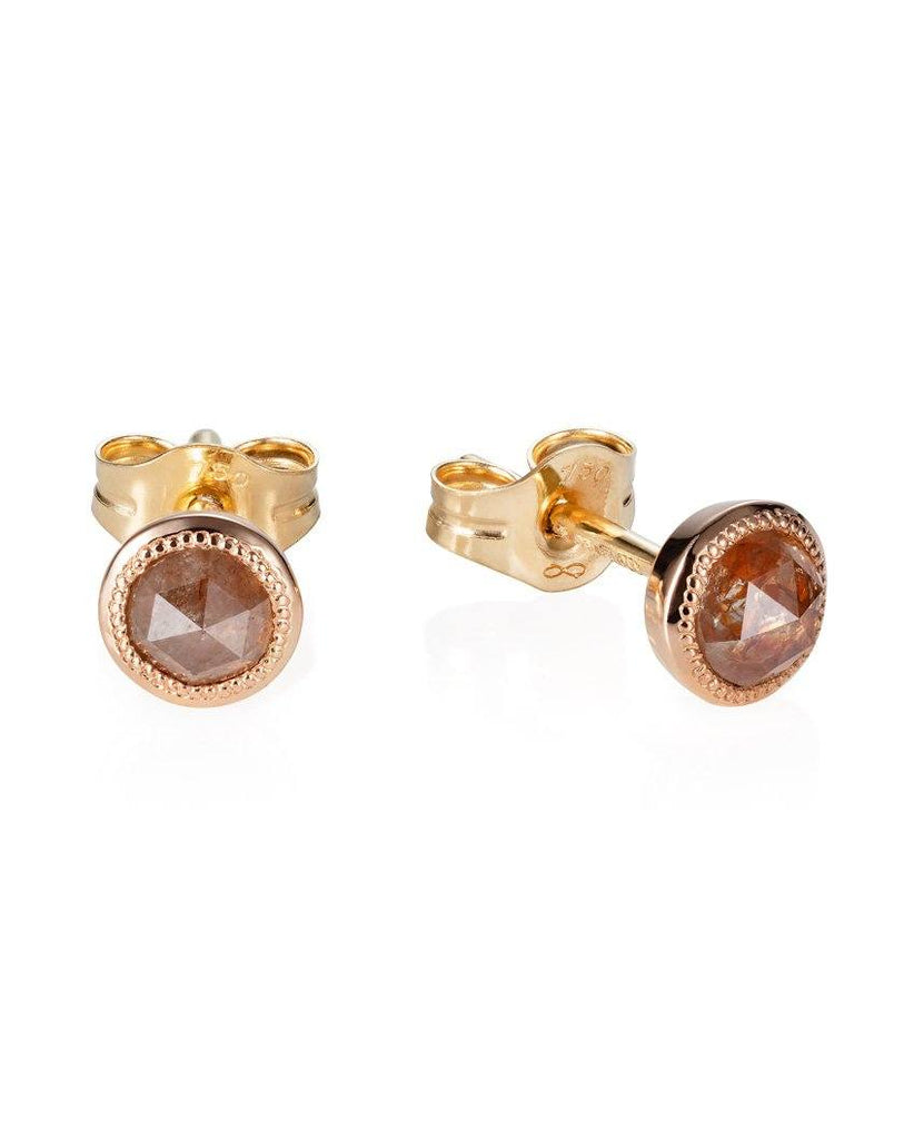 9ct Gold Diamond Set Star Studs