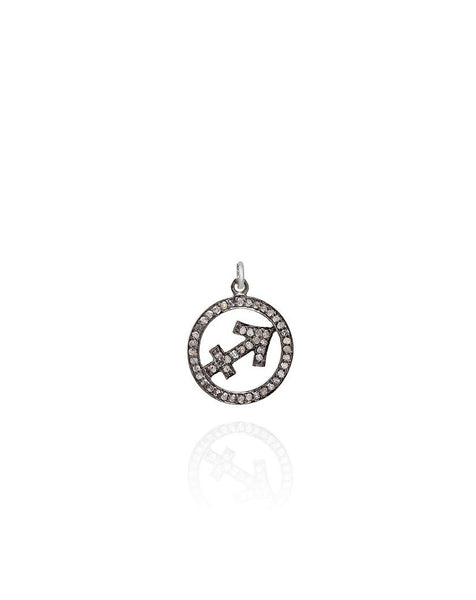 Diamond Set Zodiac Symbol Pendant