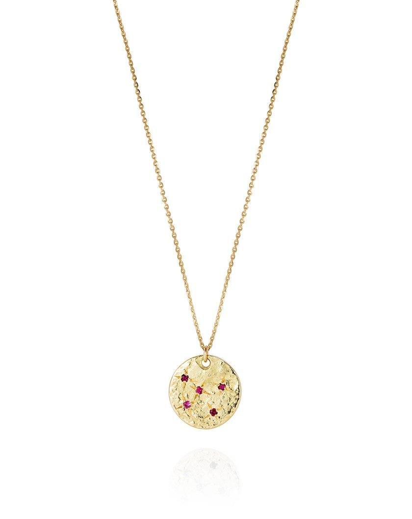 Night Sky Necklace Ruby