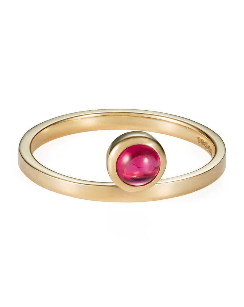 Pink Burmese Spinel Cabochon Ring