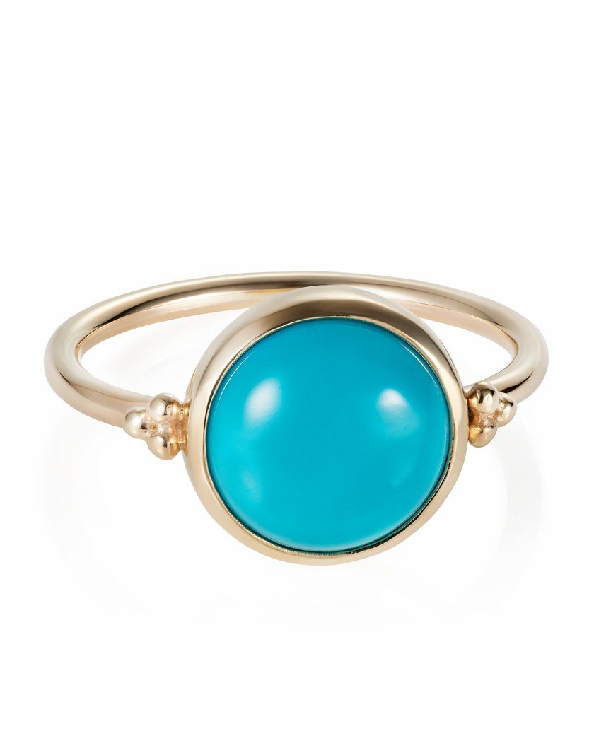 Pacific Ring Turquoise 9ct Yellow Gold