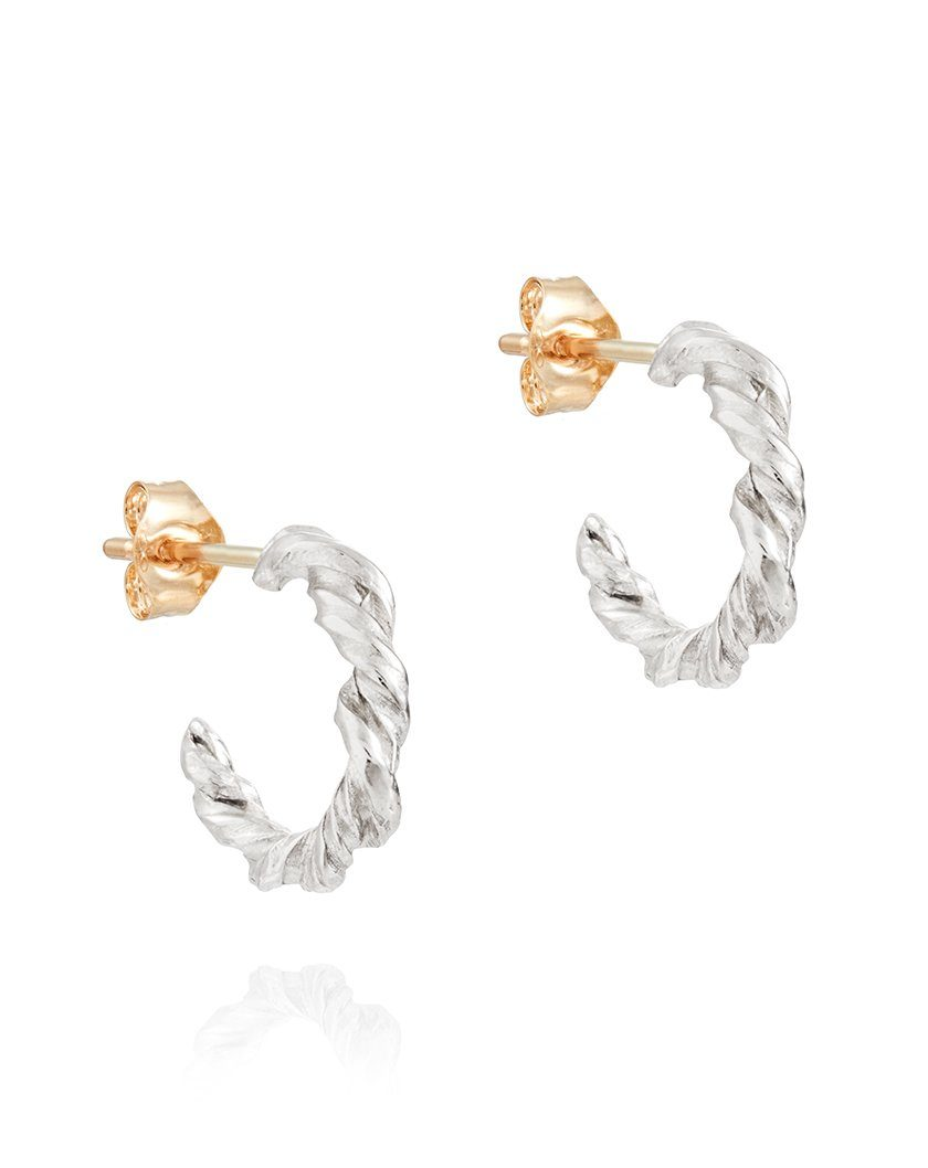 Torque Hoop Earrings