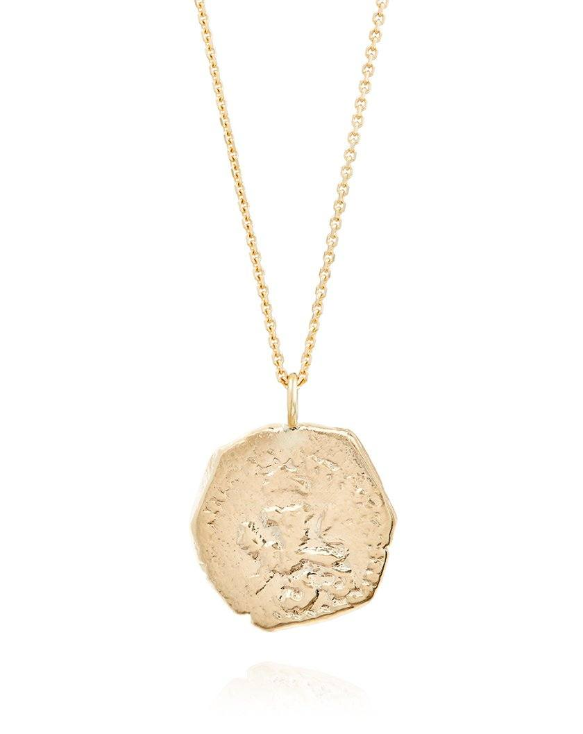 1712 Golden Lion Coin Necklace
