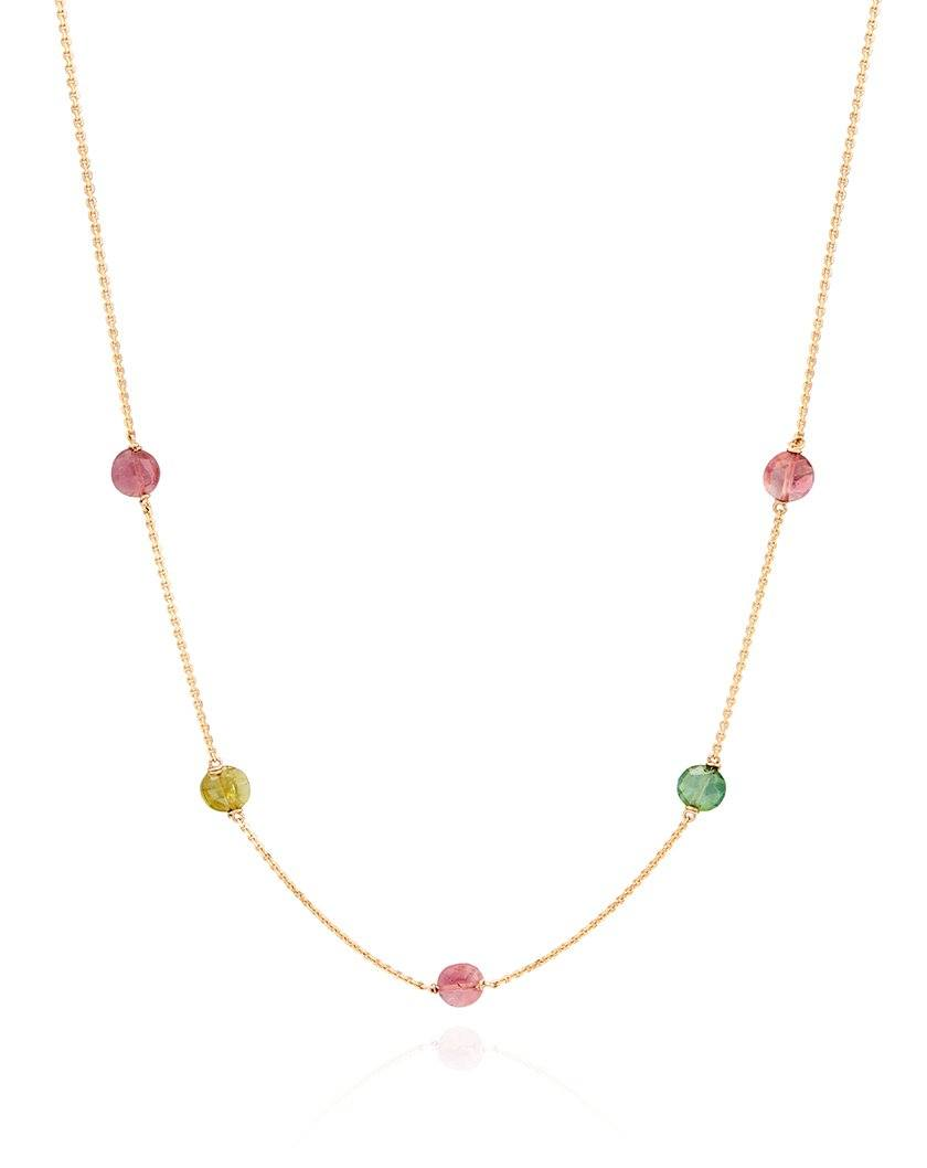 Multi Tourmaline Sleeper Necklace