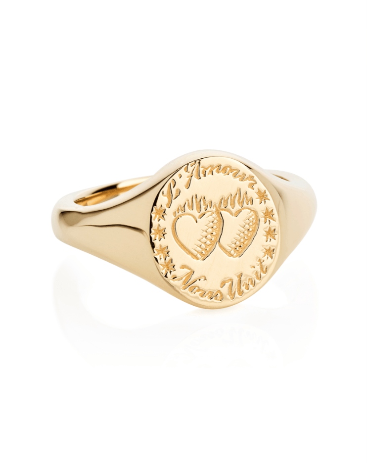 Love Unites Us Signet Ring - Laura Lee Jewellery - 1