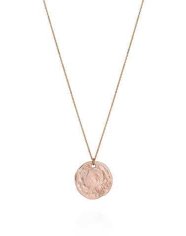 9ct Rose Gold Small Threepence Necklace