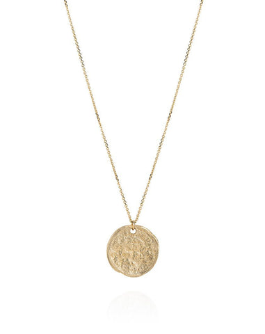 9ct Yellow Gold Small Threepence Necklace
