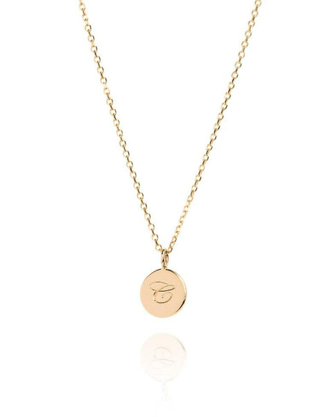 The Small Initial Coin Necklace - Laura Lee Jewellery - 1