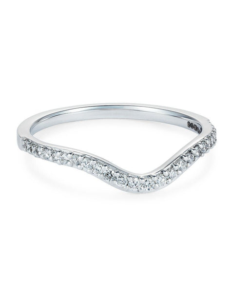 Diamond Curve Pave Ring
