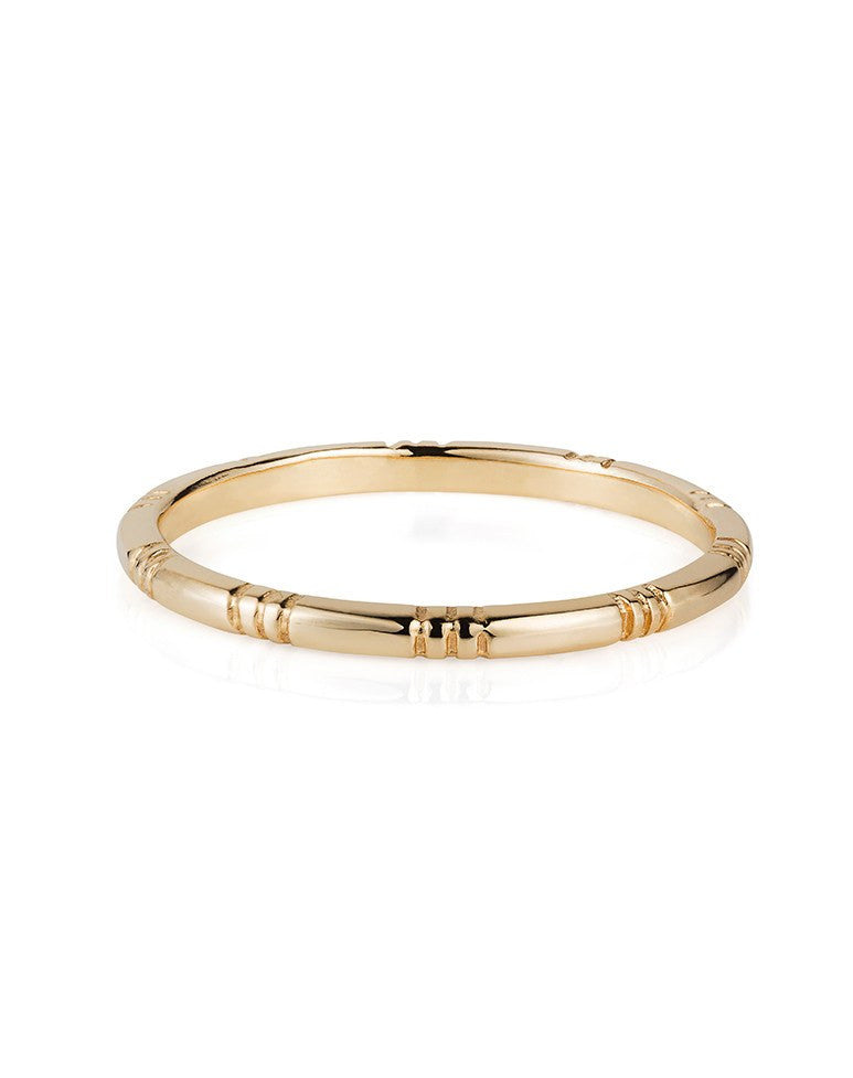 9ct Gold Banded Ring - Laura Lee Jewellery - 2