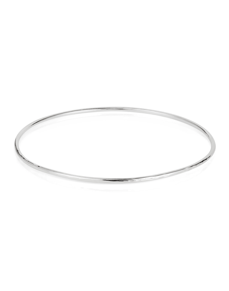 Textured Bangle in Silver - Laura Lee Jewellery - 1