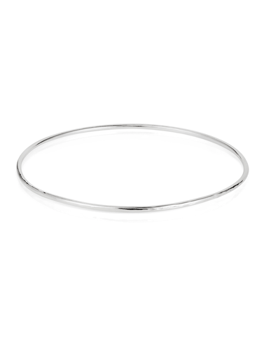 Textured Bangle in Silver