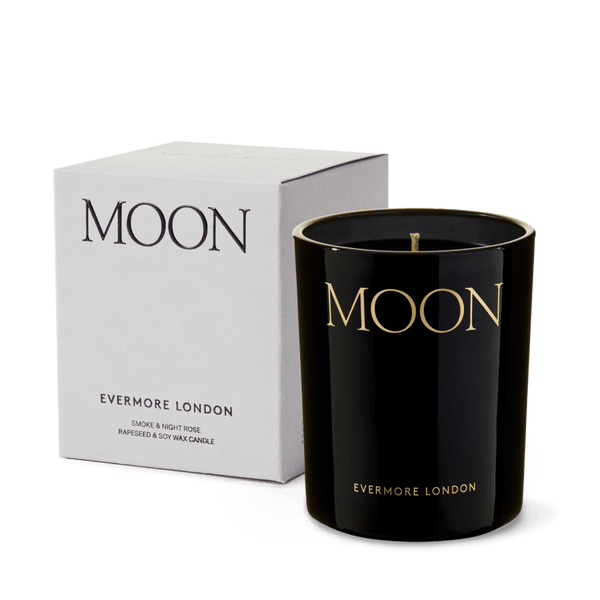 Evermore Moon Candle - Smoke & Night Rose