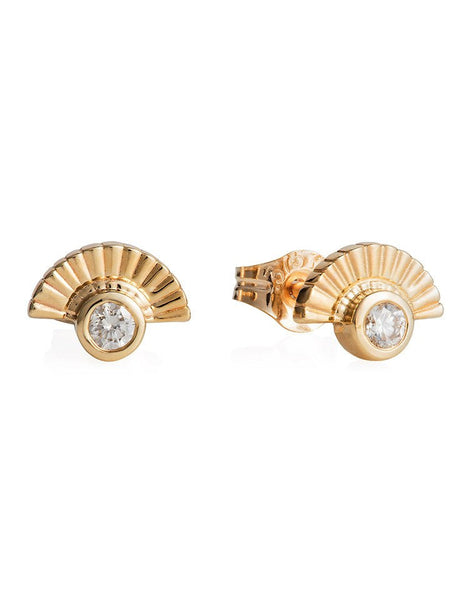 The Diamond Fan Studs - Laura Lee Jewellery - 1