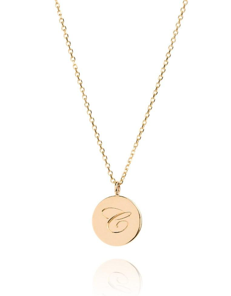 The Medium Initial Coin Necklace - Laura Lee Jewellery - 1