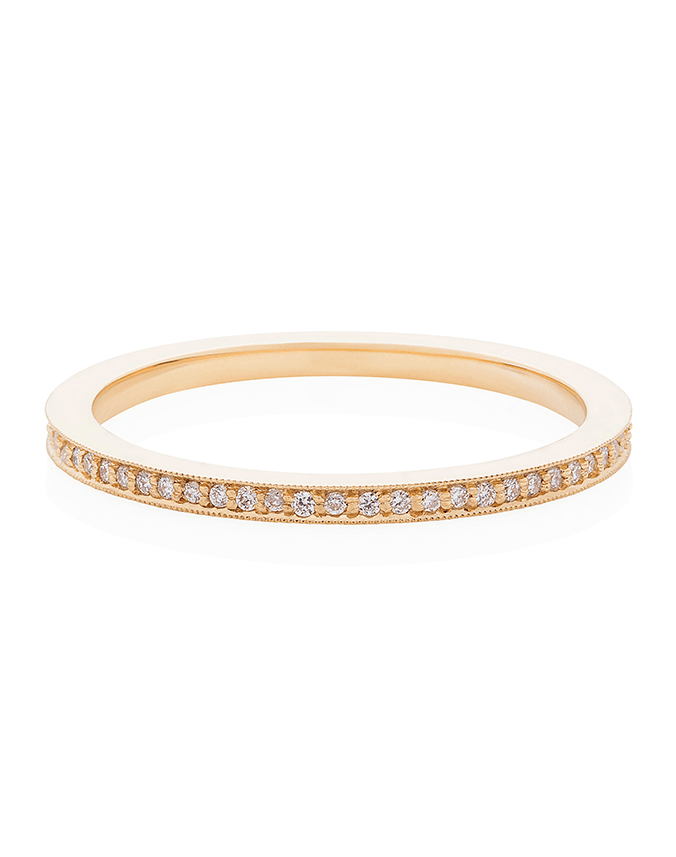 Premium Micro Sparkler Diamond Eternity Band in 18ct Yellow Gold - Laura Lee Jewellery - 1