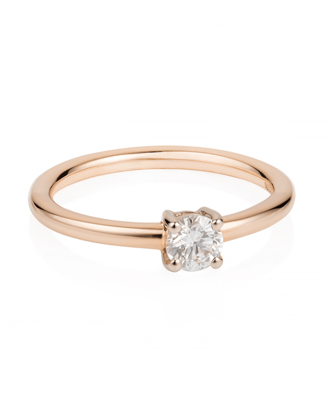 Premium Diamond Solitaire Ring in 18ct Rose Gold - Laura Lee Jewellery - 2