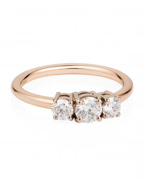 Premium Triple Diamond Ring - Laura Lee Jewellery - 1