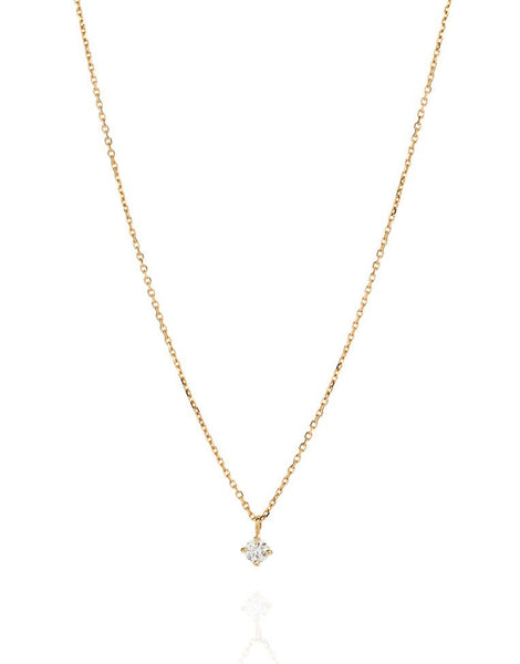 Premium Diamond Solitaire Drop Necklace - Laura Lee Jewellery - 1