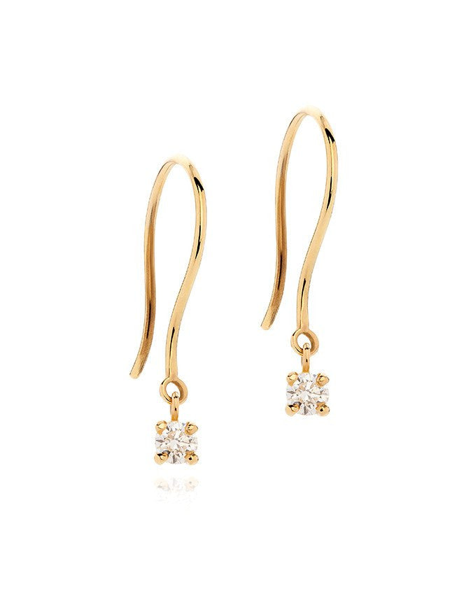 Premium Diamond Drop Earrings - Laura Lee Jewellery - 1