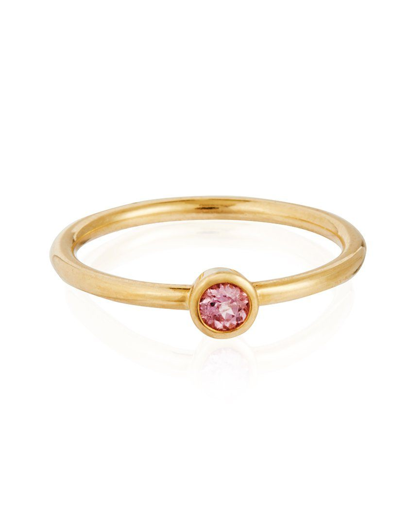 18ct Gold Pale Pink Madagascar Sapphire Ring