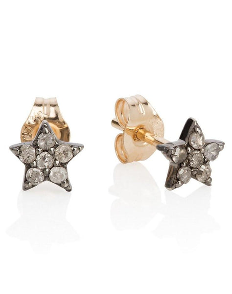 Diamond Set Star Stud Earrings - Laura Lee Jewellery - 1