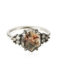 Lyra Smokey Hexagon Diamond Ring