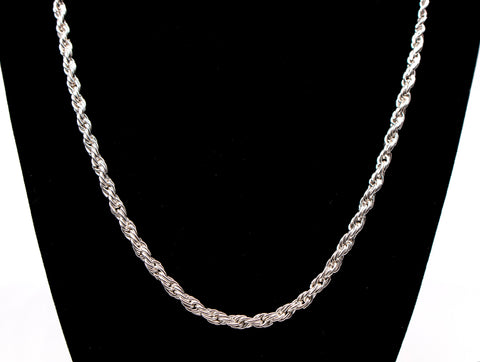 Adjustable Hand-Braided Chain with Cobra Clasp - Sterling Silver
