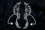Spiral Wing Ear Cuff - Silver Plated