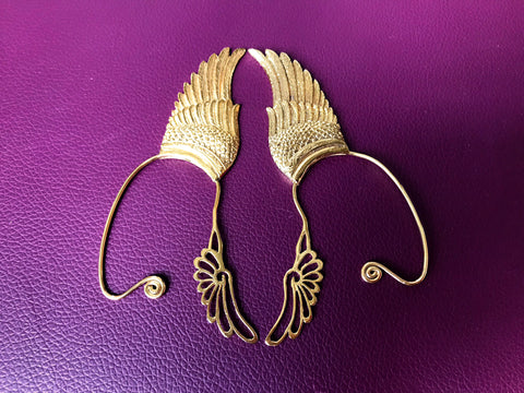 Wing Ear Cuff - 24K Gold Plated - Small