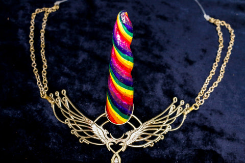 Unicorn Horn - Rainbow - Men's/ Medium