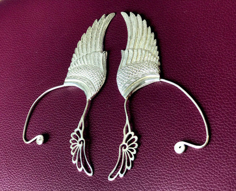 Wing Ear Cuff - Silver Plated - Large