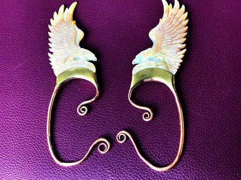 Eagle Wing Cuff - Light Mother of Pearl - Large - LIMITED EDITION!!