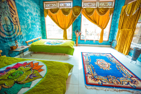 Single bed - 1 week - Large shared 3 bed room - Bali Flow Temple - Artist Residency Booking
