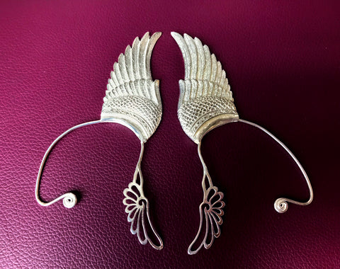 Wing Ear Cuff - Silver Plated - Small