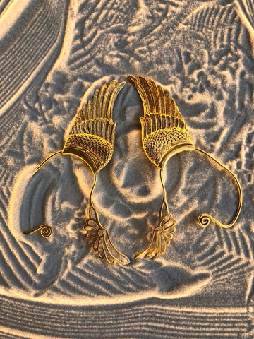 Wing Ear Cuff - 24K Gold Plated - Large