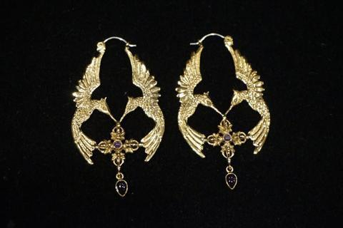 HumGaiaTri Earrings - Brass