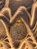 Compass of Love Pendant - Brass - Dark Mother of Pearl