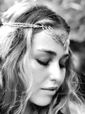 Wing Tiara - Silver Plated - Rainbow Moonstone ~ Unicorn Horn INCLUDED!!